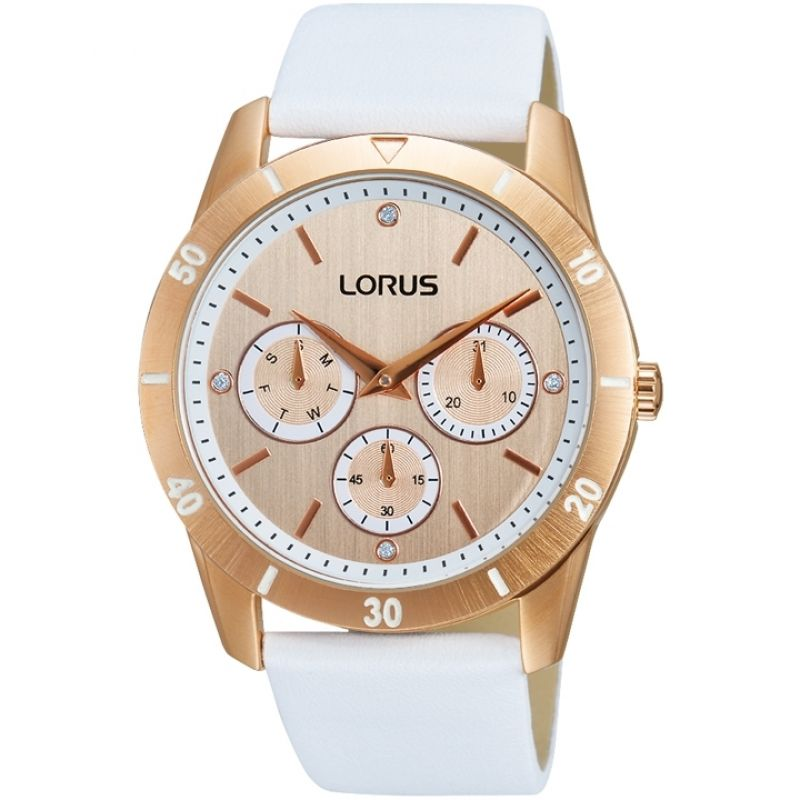 Lorus Ladies Just Sparkle Oversize Rose Tone Strap Watch RP696BX9