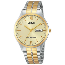 Lorus Men's Two Tone Bracelet Watch RXN08DX9
