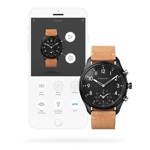 Kronaby Apex 43mm Smart Hybrid Watch S0730/1 connected