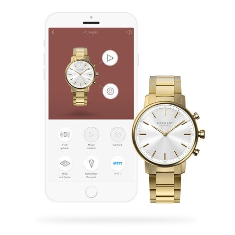Kronaby Carat 38mm Smart Hybrid Watch S2447/1 connected