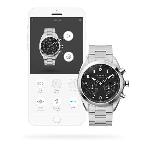 Kronaby Apex 43mm Smart Hybrid Watch S3111/1 connected