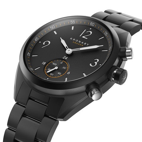Kronaby Apex 41mm Smart Hybrid Watch S3115/1 side