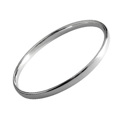 Sterling Silver 5mm Heavy Flat Slave Bangle