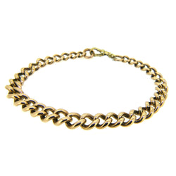 Pre Owned Graduated Curb Bracelet 9ct Gold