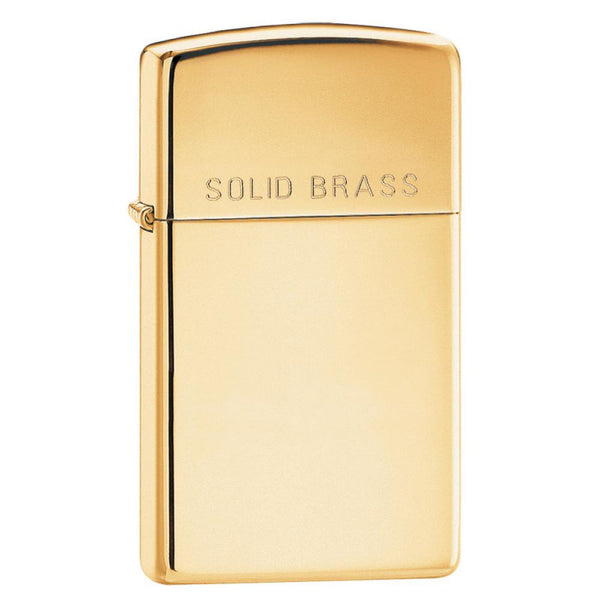 Zippo Slim® High Polished Brass Lighter 1654