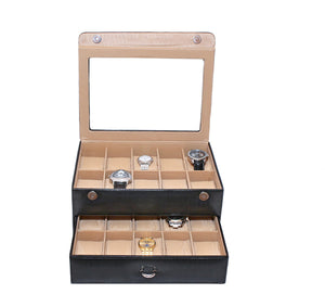 synthetic leather watch storage box