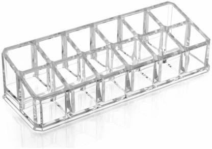 Premium Acrylic 12 section cosmetics makeup organizer (transparent)