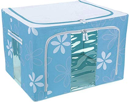 Boxania Living Box - Wardrobe Organizer, Cloth Storage Bags with Zip - 66 Litre, Pack of 1