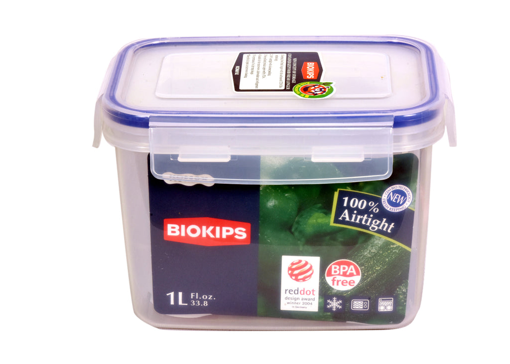 Plastic Food Containers With Lids | BLOKIPS Container 1.0Lt