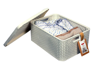 Curver Style storage box with Lid (White) - 3 sizes