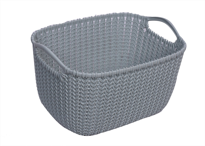 Reactangular Knit Storage Basket (03674)