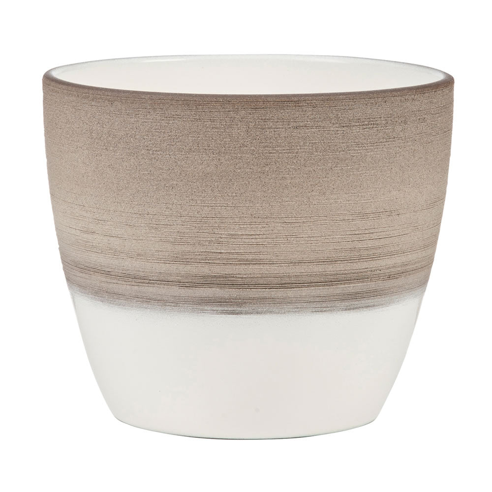 Scheurich Indoor Plant Pot Espresso Cream 14cm