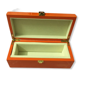 "Premium Wooden Jewellery/Chain Box - Velvet Inside 9.5"" L x 4"" W X 3"" H"