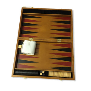 Luxury Boxania® Wooden Backgammon Board Game Set