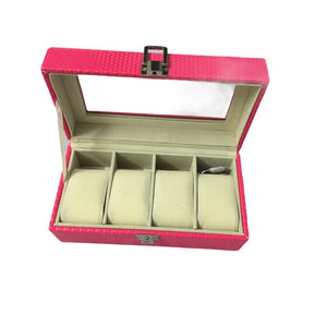 Boxania® 4 Slots Watch Box - Pink