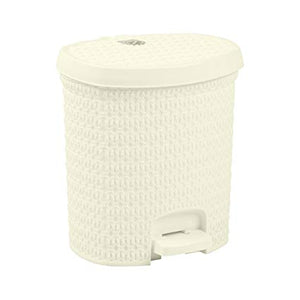 white pedal dustbin