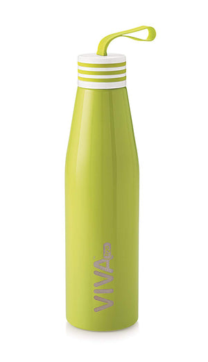 Stainless Steel Water Bottle, Double Wall Vacuum Insulated Travel Mug 100% Leak & Sweat Proof BPA Free, Cold 12 Hrs / Hot 12 Hrs Perfect for Camping, Cycling, Gym, School 680ML