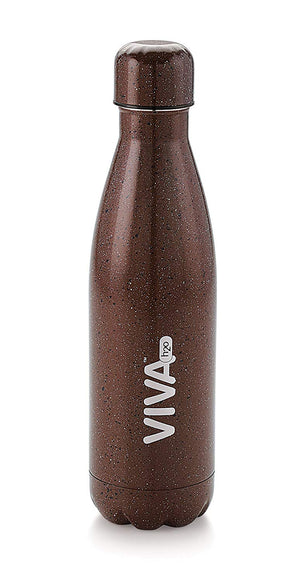 Stainless Steel Water Bottle, Double Wall Vacuum Insulated Travel Mug 100% Leak & Sweat Proof BPA Free, Cold 12 Hrs / Hot 12 Hrs Perfect for Camping, Cycling, Gym, School 500 ML by VIVA h2o