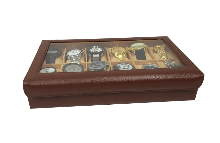 PU Synthetic Leather Watch Organiser