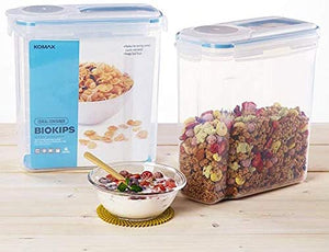 Komax Biokips Original Airtight Cereal Container - 4 ltrs - 100% Airtight (Pack of 1)