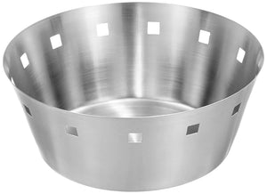 Mosaic Stainless Steel Bread Basket, Silver