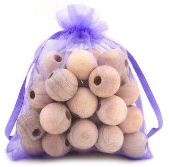 Boxania Clean-Living 20pcs Safe Natural Cedar Wood Balls Moth Balls Camphor Bug Repellent Wardrobe Clothes Drawers Pest Control