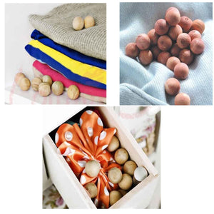 Boxania® Natural Cedar Wood Moth Protection Balls 24 pcs Non-Toxic Repellent Clothes Bedding Blankets Storage Closet Drawer Mildew Mold Prevention
