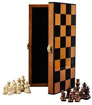 Boxania Wooden Non Magnetic High Gloss Finish Handcrafted Pieces Chess Board Game Set  (Rosewood)