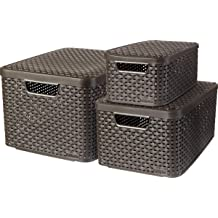 Curver My Style Storage Box with Lid (Dark Grey) - 3 sizes