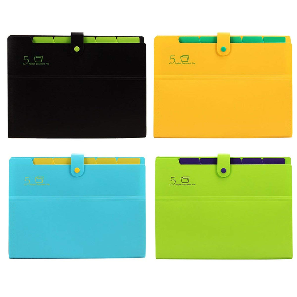 Expanding Document Organizer - 6 pockets (mix colours)
