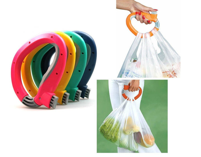 Boxania (Set of 2 ) One Trip Grip Bag Handle Grocery Carrier Holder Carry Multiple Plastic Bags Lock