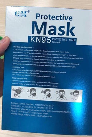 Clean-Living™ KN95 / FFP2 Protective Face Mask (CE Certified) Pack of 4