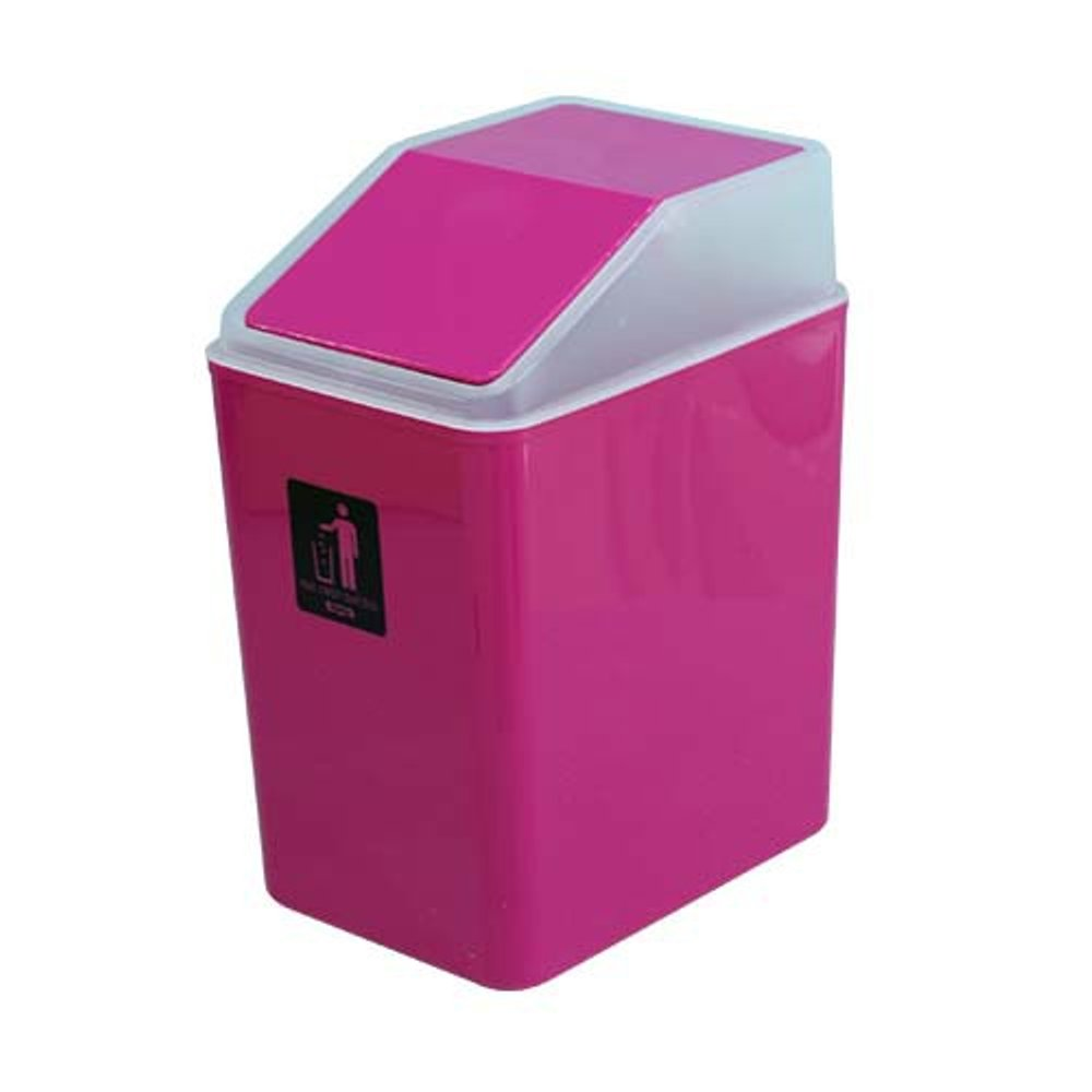 mini pink plastic dustbin
