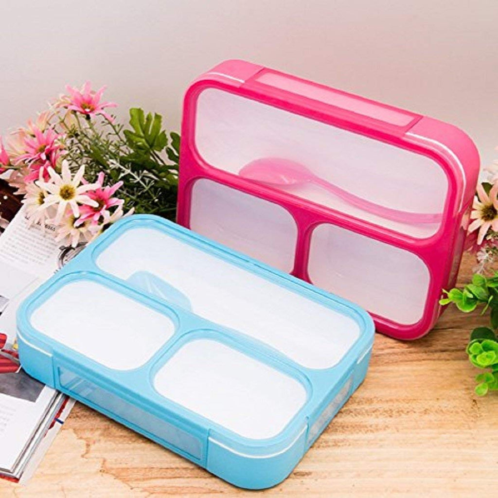 Leak-Proof Lunch Box |  3 compartments lunch box | Boxania