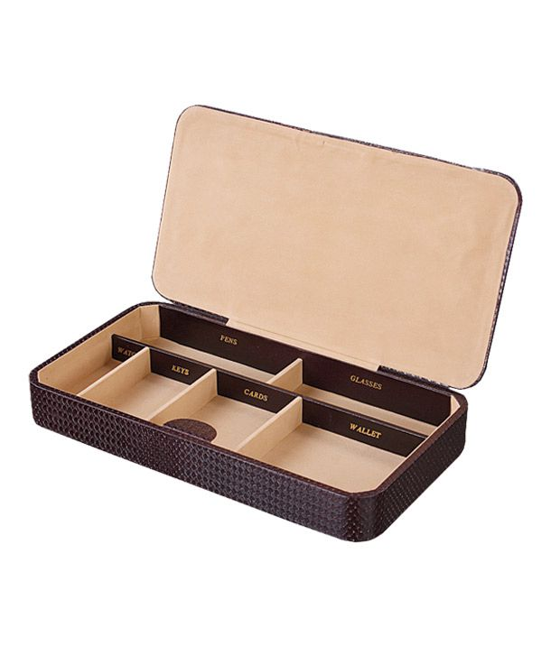 Boxania Pu Leather Pocket Changer Organiser, Keys , Business Card , Watch , Pen Organizer, Wallet Organizer, Glasses Organizer