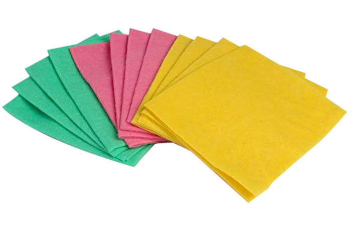 Boxania® OKS Multipurpose Absorbent Cleaning Wipes (Assorted Colours) Set of 12