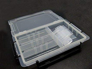 Boxania® Multi-Purpose Transparent Storage box with partition for Jewelry I Pills I Tools I Art & Craft