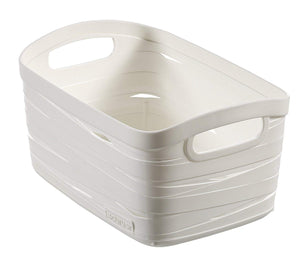 Curver Polypropylene Ribbon Basket, 8 litres (White)