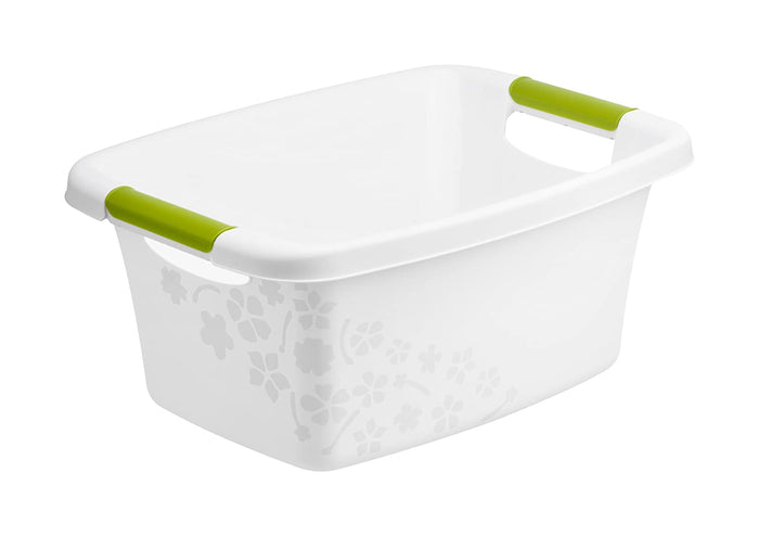 Rotho Basin 12 L Flowers, White ( Swiss Made)