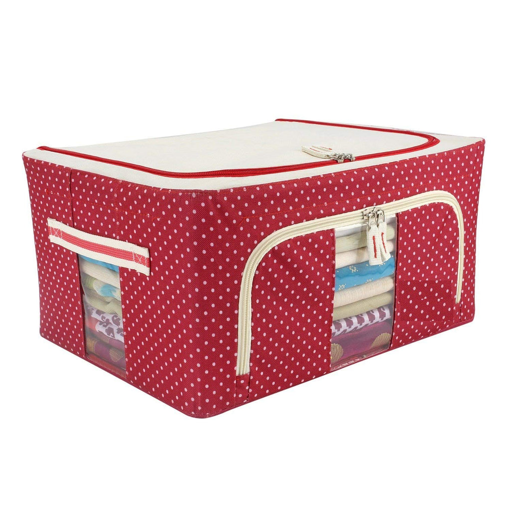Boxania Living Box - Storage Boxes for Clothes, Shirts, Saree Cover - 24 Litre, Pack of 1 (Mix colours)