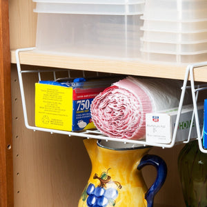 Under Shelves for Extra Cabinet Storage