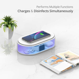 Boxania® Portable Multi-Functional UV Sterilizer with Wireless Charging and aroma-therapy