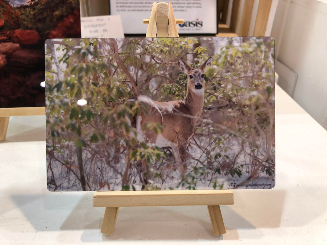 Metal with Easel (Deer) #004