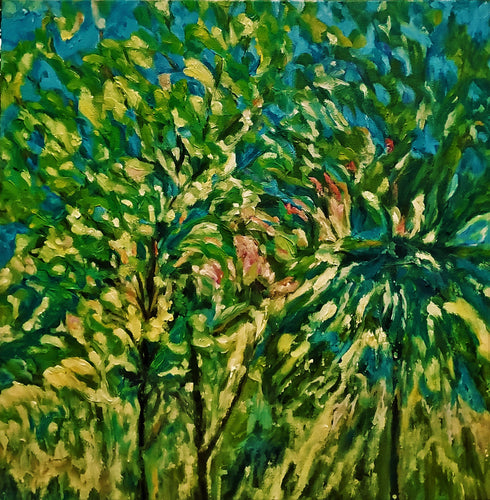 Tree Tops Oil Painting