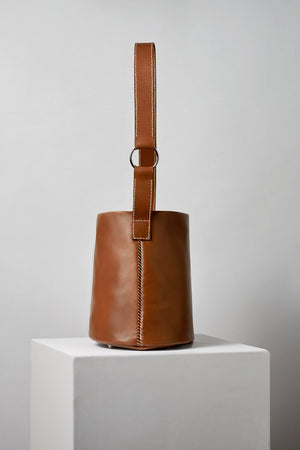 Leather Bucket Bag Made by MLE in New York