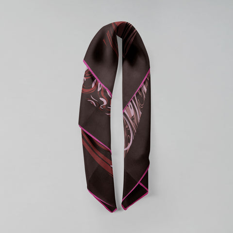 Double folded Marbré scarf in merlot burgundy