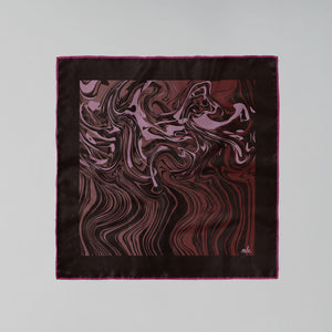 MLE Marbré scarf in merlot burgundy red