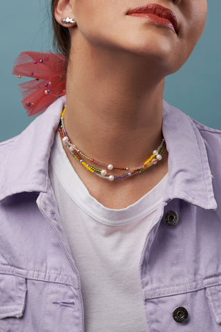 Fête Choker in Lime
