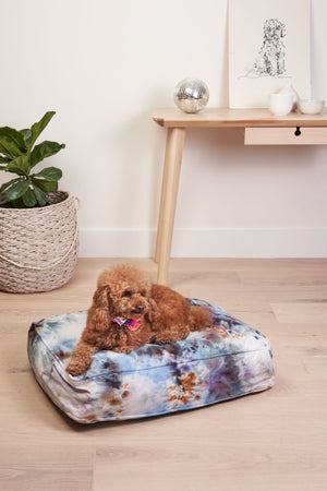 Tie Dyed Dog Bed in Chill