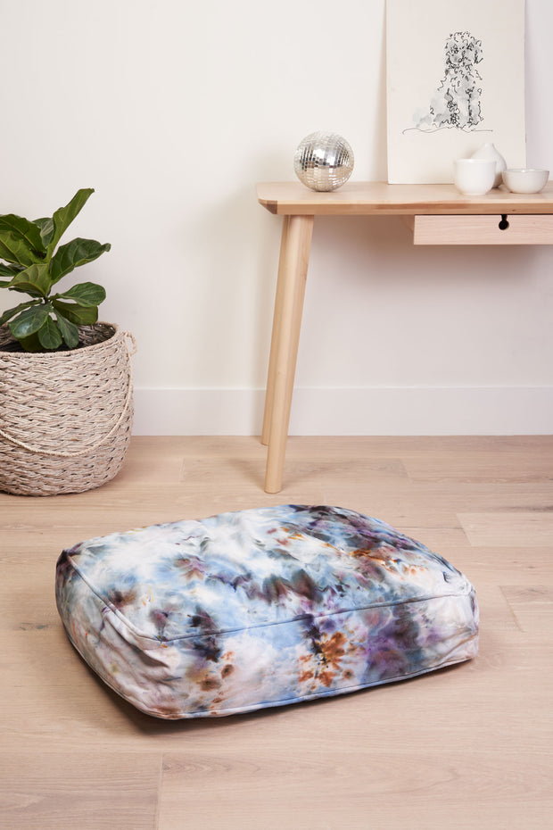 Tie Dyed Dog Bed in Chill 1